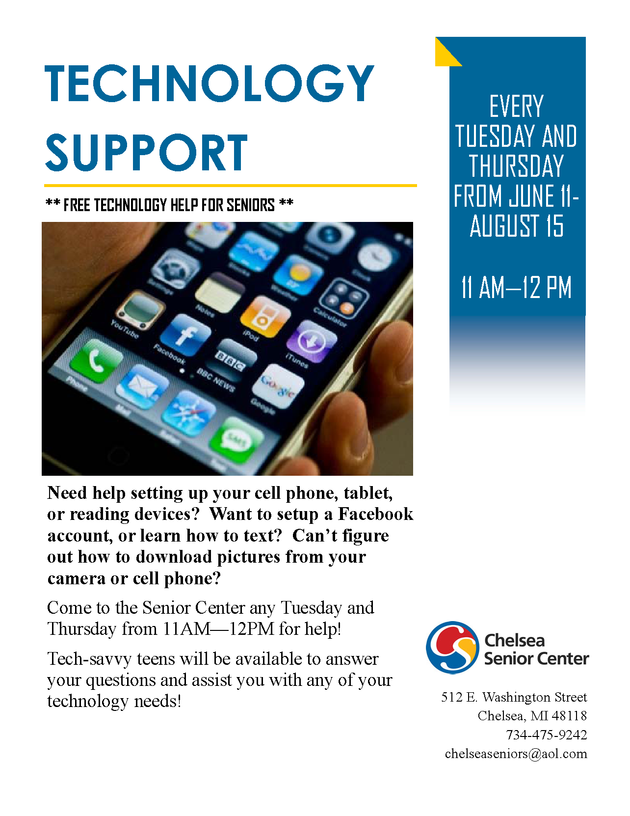 Technology Support for Seniors!